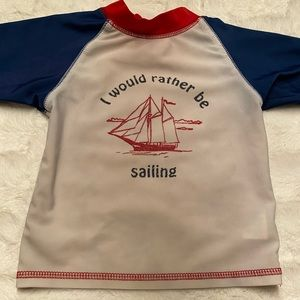 I would rather be sailing swim shirt